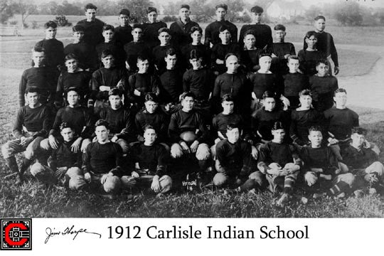 Jim Thorpe & 1912 Carlisle Team  7115