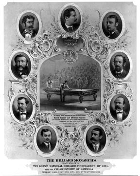 1874 Billiard Monarchs Tournament  7130 - Prints and Photos