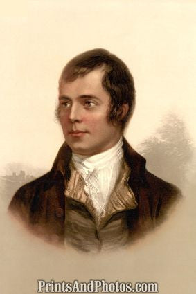 Robert Rabbie Burns Poet Portrait  7135