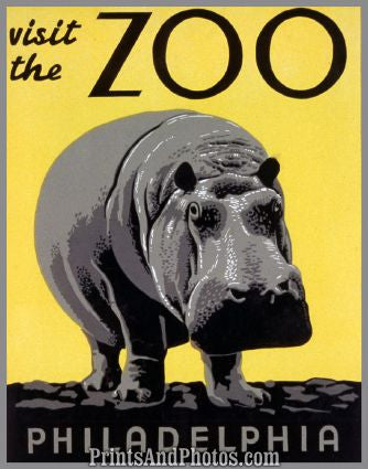 Phila Zoo Art Litho  7168