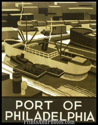 Port of Philadelphia Art Litho