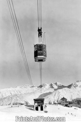 Swiss Mountain Cable Car Test Run  7175