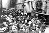 Men Crowd Wall Street late 20s  7181