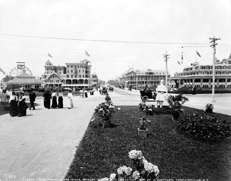 Asbury Park NJ 1904 View From Boardwalk  7194
