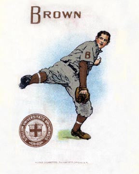 Brown University Baseball Art Litho  7198