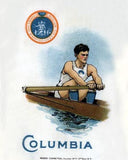 Columbia Rowing Art Litho  7205