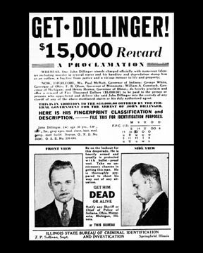 Dillinger Wanted  7210