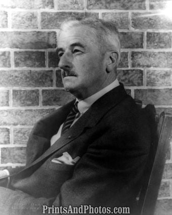 Author William Faulkner Portrait  7212