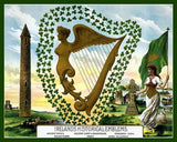 Ireland's Historical Emblems Art Litho  7219