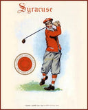 Syracuse Golf Art Litho  7241
