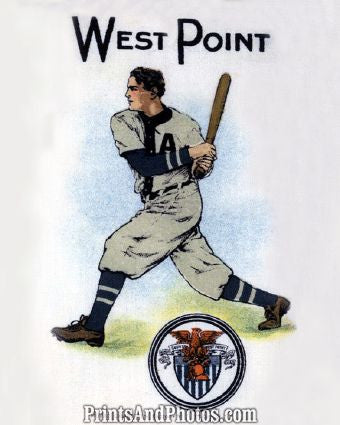 West Point Baseball Art Litho  7244