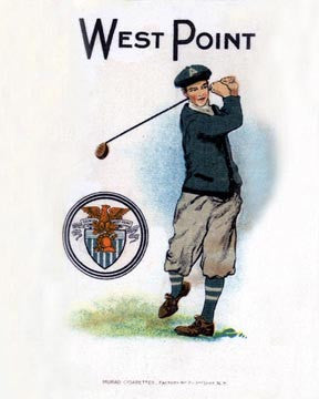 West Point Golf Art Litho  7245