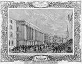 1850 New York Wall Street  7248 - Prints and Photos