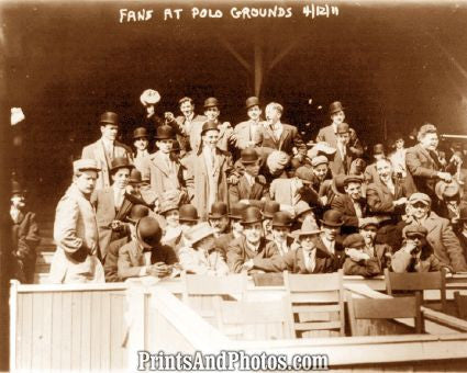 Polo Grounds Giants Fans 1911 Photo 7313.