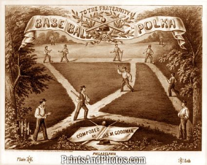 Baseball Polka 1857 Sheet Music Photo 7318