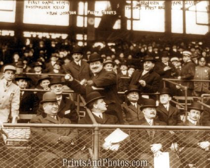 Opening Day at Ebbets Field 1914 Photo 7330