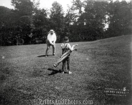 President Taft Putts Golf Photo 7356