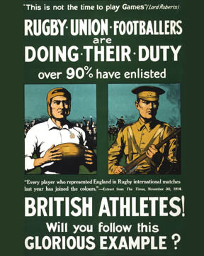 World War 1 Rugby Union Footballers 7402