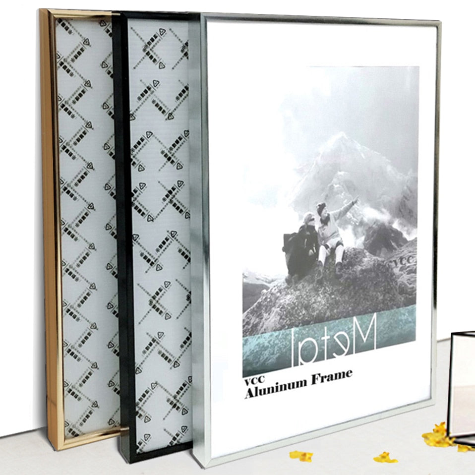 Picture Frame Metal Poster Frame Classic Aluminum Photo Frames For Wall Hanging A3 A4 30x30 Certificate Frame VCC