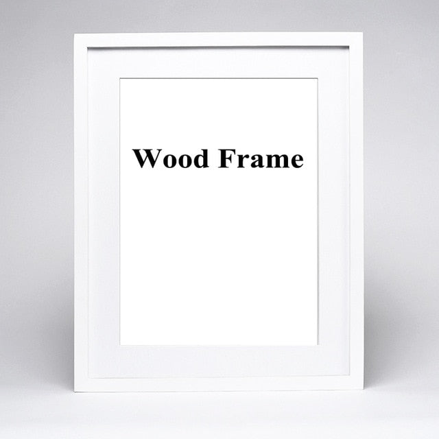 Nature Solid Simple Wooden Frame A4 A3 Black White Wood Color Picture Photo Frame with Mats for Wall Mounting Hardware Included