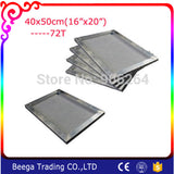 16x20 inch (40x50cm) Frame with 180M Screen Mesh Screen Frame with Screen Mesh Making Plate Directly