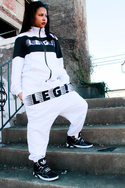 White track Suit Pants