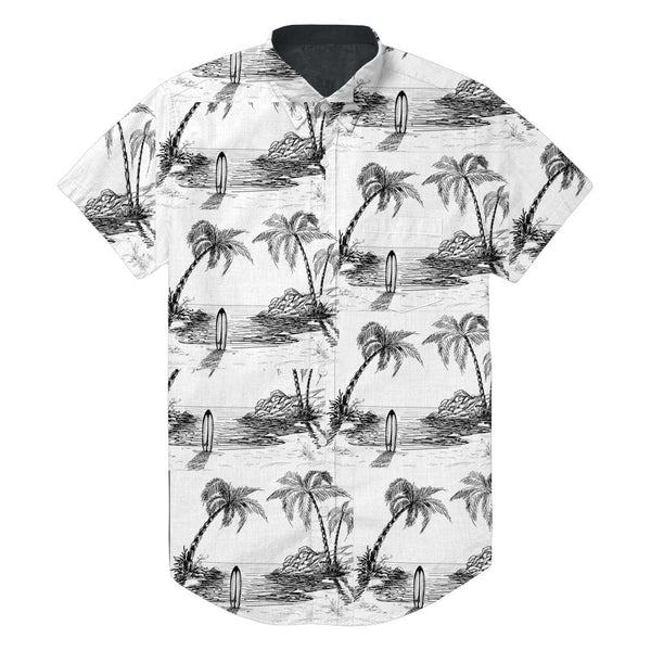 SIMPLY WAVY BEACH SHORT SLEEVE BUTTON UP