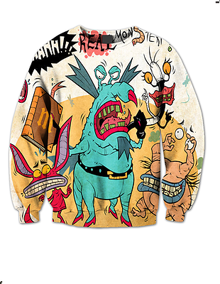 AAAAH! REAL MONSTERS CREW NECK