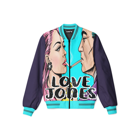 Love Jones Satin Bomber Jacket