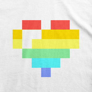 T-Shirts - Rainbow Pixel Heart T-Shirt