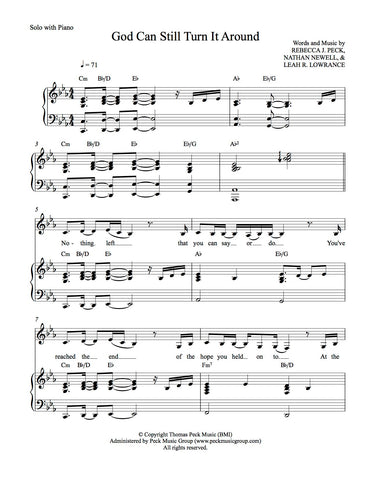 God Can Still Turn It Around - sheet music - Digitally Delivered PDF