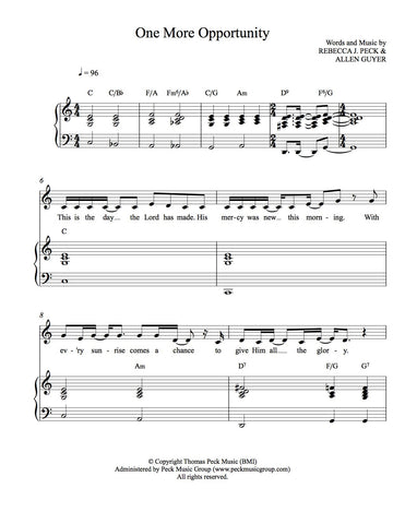 One More Opportunity - sheet music - Digitally Delivered PDF