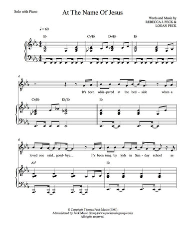 At The Name Of Jesus - sheet music - Digitally Delivered PDF