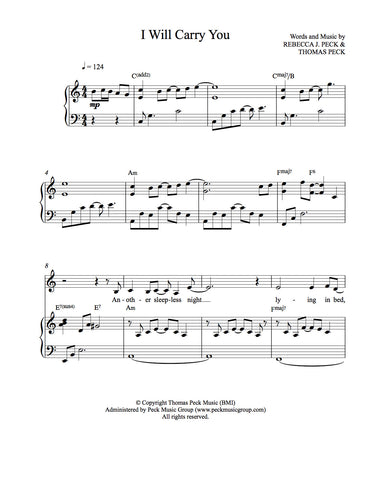 I Will Carry You - sheet music - Digitally Delivered PDF