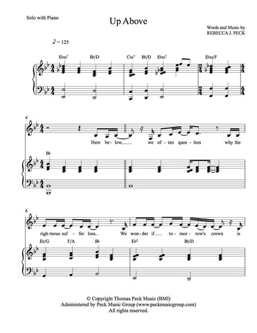 Up Above - sheet music - Digitally Delivered PDF