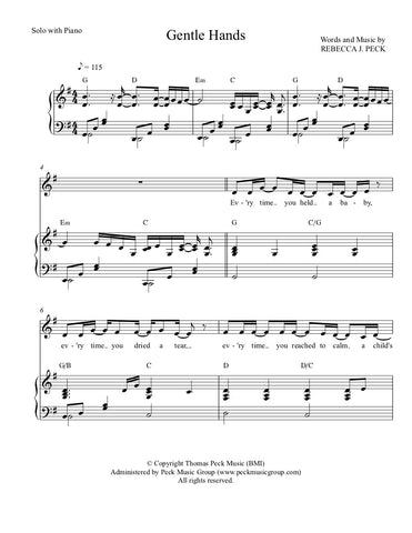 Gentle Hands - sheet music - Digitally Delivered PDF
