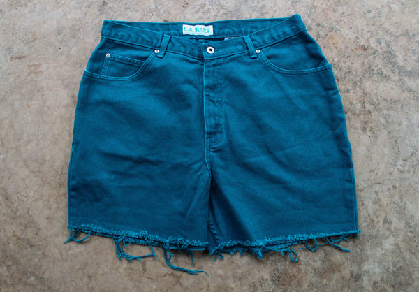 """Magic is Real"" LA Blues Cut Offs, Sz- 18"