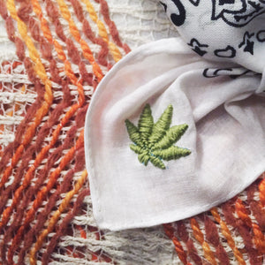 Double Mary Jane Embroidered Bandana