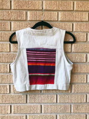 Jordache Jean Vest with Serape back patch Chest 38""