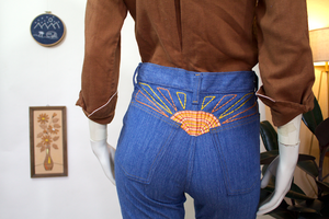 Put On Shop Jeans w/Sun Burst Embroidery