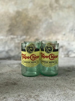 Hand Cut Topo Chico Cocktail Glasses (Set of 4)