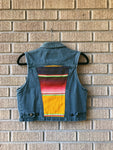 Gotcha Covered Denim Vest / Yellow Serape Back Patch