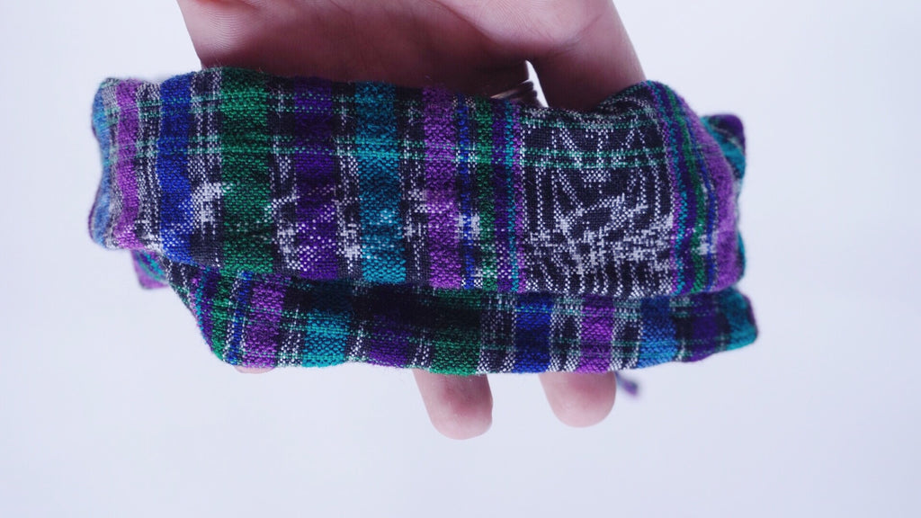 Purple Double Ikat