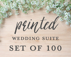 Printed Wedding Suite, Set of 100
