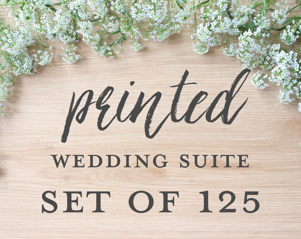 Printed Wedding Suite, Set of 125