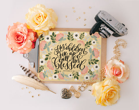 Proverbs 31:28, Printable