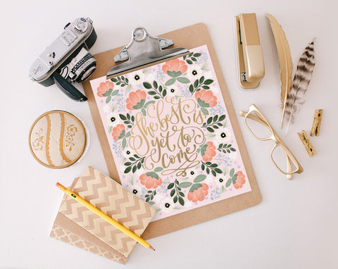 The Best, Floral, Printable
