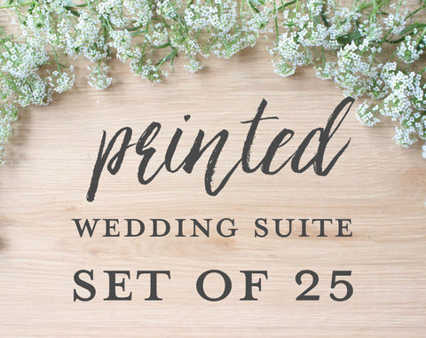 Printed Wedding Suite, Set of 25