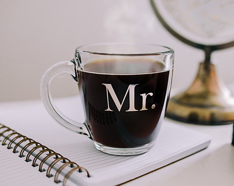 Glass Mr. Mug