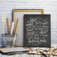 Silent Night Handlettered